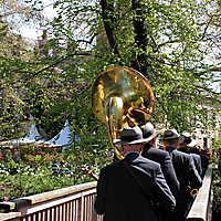 Musiker auf der Brücke